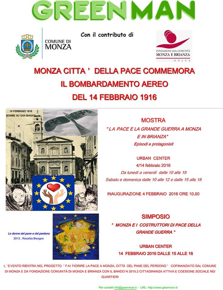 Monza città della pace commemora il bombardamento del 1914